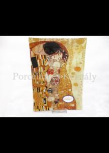 H.C.198-1021 Üvegtál Klimt: Csók, 2x28x20 cm