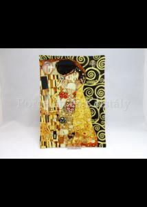 H.C.198-1051 Üvegtál Klimt Csók, 2x28x20 cm