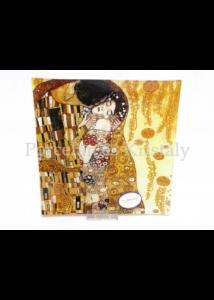 H.C.198-1231 Üvegtál Klimt: Csók, 2x25x25 cm