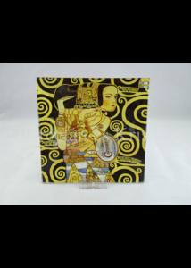 H.C.198-1412 Üvegtál Klimt: Várakozás, 1x15x15 cm