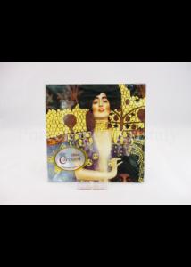 H.C.198-1610 Üvegtál Klimt: Judit, 0,5x13x13 cm