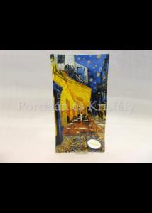 H.C.198-3001 Üvegtál Van Gogh: Kávéház éjjel, 2x30x15 cm