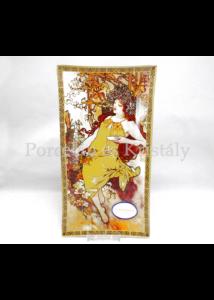 H.C.198-7203 Üvegtál Mucha: Ősz, 2x30x16 cm