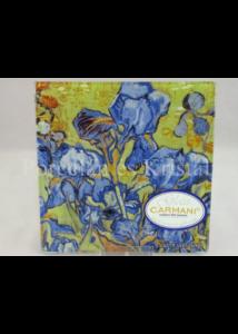 H.C.198-7305 Üvegtál Vincent Van Gogh: Íriszek, 0,5x13x13 cm