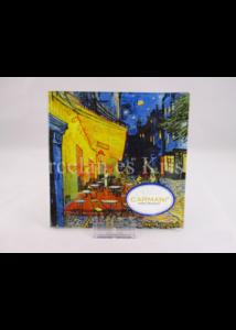 H.C.198-7309 Üvegtál Vincent Van Gogh: Kávéház éjjel, 0,5x13x13 cm