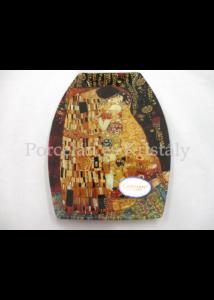 H.C.198-8041 Üvegtál Klimt: Csók, 2x30x19,5 cm