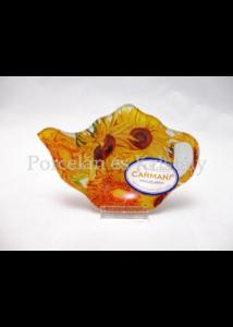 H.C.198-9306 Üveg teafiltertartó Van Gogh: Napraforgók, 1,5x10x14,5 cm