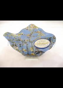 H.C.198-9308 Üveg teafiltertartó Van Gogh: Mandulavirágzás, 1,5x10x14,5 cm
