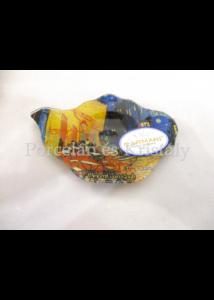 H.C.198-9309 Üveg teafiltertartó Van Gogh: Kávéház éjjel, 1,5x10x14,5 cm