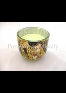 H.C.457-8201 Sütőtöktorta illatgyertya üvegben Klimt: Csók, 7,5x8 cm