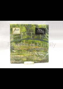 AMB.13309585 Papírszalvéta Monet: Japán híd, 33x33 cm