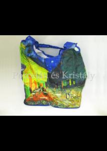 FRI.40536 Táska a táskában cipzáras, Van Gogh: Kávéház éjjel, 52x39x13,5 cm