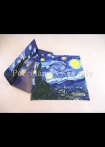 H.C.021-0529 Szemüvegtörlő kendő Van Gogh: Csillagos éj, 20x20 cm