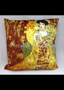 H.C.021-1602 Párna Klimt: Adél, 45x45x11 cm
