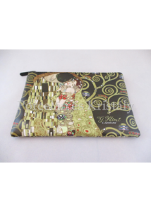 H.C.021-4801 Neszesszer Klimt: Csók 15x21x1 cm