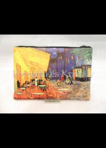 H.C.021-4804 Neszesszer Van Gogh: Kávéház éjjel, 15x21x1 cm