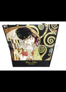 H.C.021-9007 Kétoldalas válltaska Klimt: Csók és Életfa, 38x46x11 cm