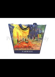 H.C.021-9013 Kétoldalas válltáska Van Gogh: Csillagos éj és Kávéház éjjel, 38x46x11 cm