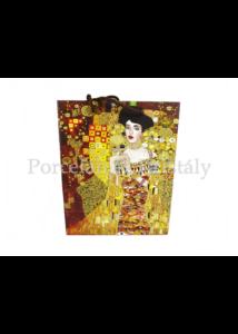 H.C.036-1601 Kétoldalas ajándéktasak Klimt: Adél és Csók, 32x26x10 cm