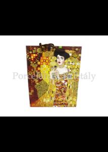 H.C.036-1701 Kétoldalas ajándéktasak Klimt: Adél és Csók, 42x30x12 cm