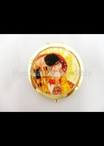 H.C.181-1001 Nagyítós piperetükör Klimt: Csók, 1x7,5 cm