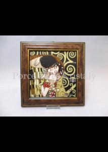H.C.261-8821 Keretes kép Klimt: Csók, 19,5x19,5x2 cm