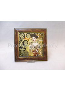 H.C.261-8825 Keretes kép Klimt: Adél, 19,5x19,5x2 cm