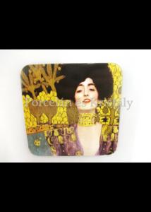 H.C.532-1210 Parafa poháralátét Klimt: Judit 10x10 cm