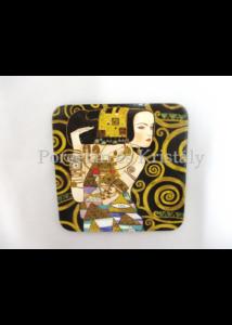 H.C.532-1212 Parafa poháralátét Klimt: Várakozás 10x10 cm