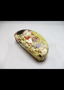H.C.532-9996 Szemüvegtok Klimt: Csók, 6,5x16x7,5 cm