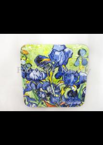 H.C.830-0003 Parafa poháralátét Van Gogh: Íriszek 10x10 cm