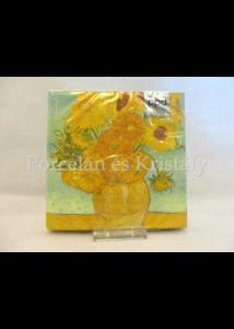PPD.C1333493 Papírszalvéta Van Gogh: Napraforgók, 33x33 cm