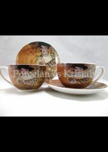D.G.19742 Porcelán mini-tea szett 2 személyes, 4 részes, Klimt: Adél