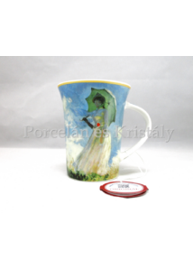 H.C.045-8102 Porcelánbögre 350 ml, Monet: Nő esernyővel