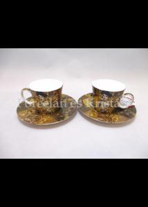 H.C.532-0305 Porcelán mini-mokka szett 2 részes, 4 darabos, Klimt: Adél