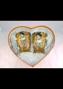 H.C.532-0805 Porcelán Lábasbögre szett 2 személyes, 2 részes, Klimt: Adél
