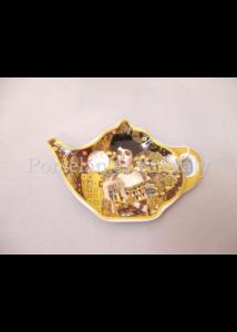 H.C.532-1505 Porcelán teafiltertartó Klimt: Adél, 1,5x8,7x13,3 cm