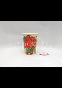 H.C.830-8111 Porcelánbögre 350 ml, Van Gogh: Pipacsok és százszorszépek