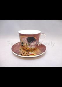 P.P.P171-08397 Porcelán csésze+alj 400ml, Klimt: Csók