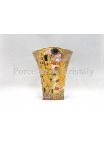 P.P.W3A46-08771 Porcelán váza 20x15x6 cm, Klimt: Csók
