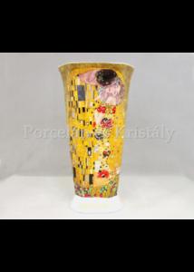 P.P.W4A25-17282 Porcelán váza 28x15,5 cm, Klimt: Csók