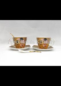 P.P.W6A60-11499 Porcelán mini-tea szett 2 személyes, 6 részes, Klimt: Csók