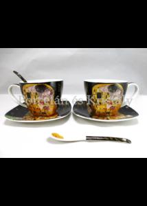 P.P.W6B60-11598 Porcelán mini-tea szett 2 személyes, 6 részes, Klimt: Csók