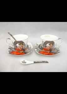 P.P.W6S60-17071 Porcelán mini-tea szett 2 személyes, 6 részes, Mucha: Topáz