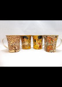 T.L.C.LP94356 Porcelánbögre 4 db-os szett dobozban, 250ml, Klimt
