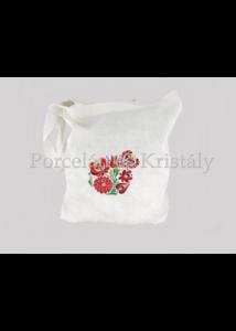 Bevásárló táska Matyó, törtfehér-színes 40x35x4,5cm