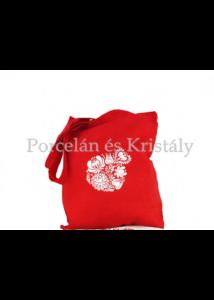 Bevásárló táska Matyó, piros-fehér 40x35x4,5cm