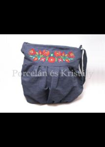 Buggyos táska Matyó, farmer-színes 30x35x25cm