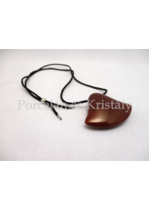 10635 Harang medál piros eosin, 4x5,5 cm