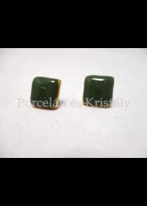 10648/8420 Fülbevaló zöld, 1,5x1,5 cm